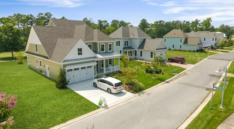 The model home at The Peninsula, an Insight Homes community in Millsboro, Del. Photo courtesy Insight Homes