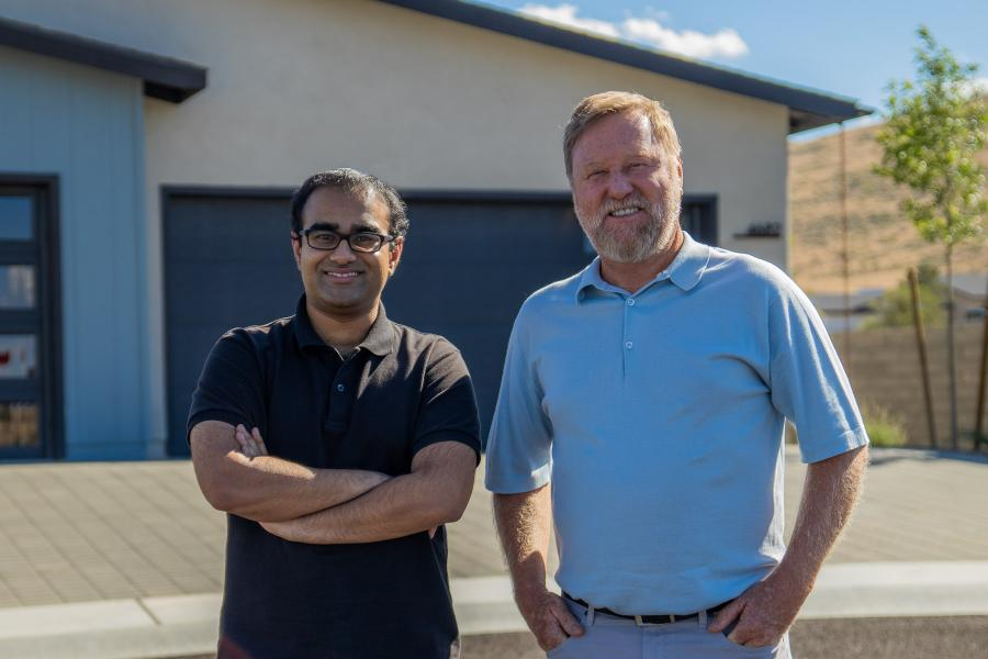 Pictured: Salman Ahmad, CEO and co-founder of Mosaic (l.), and Dave Everson, Owner of Mandalay Homes (r.), an early partner of Mosaic