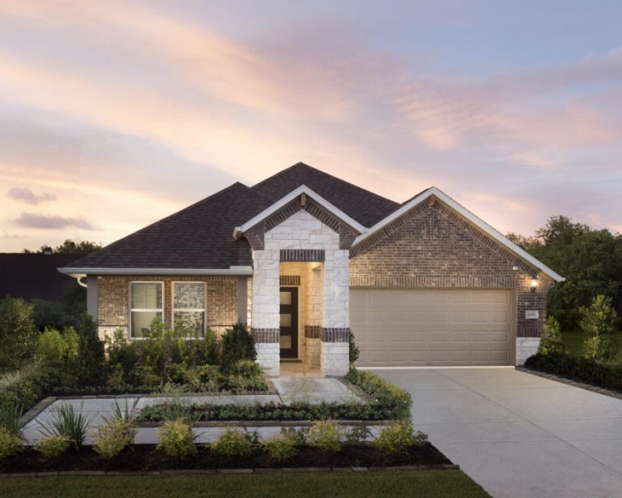The 2,991-square-foot, 3-5 bedroom Oleander model at Meritage Homes' Pearland Place community in Pearland, Texas, just south of Houston. The model starts at $282,990.