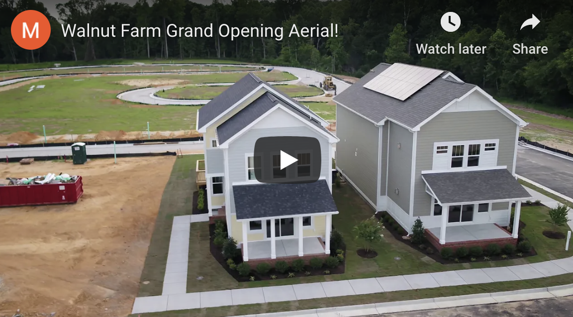 flyover of the grand opening of the walnut farms