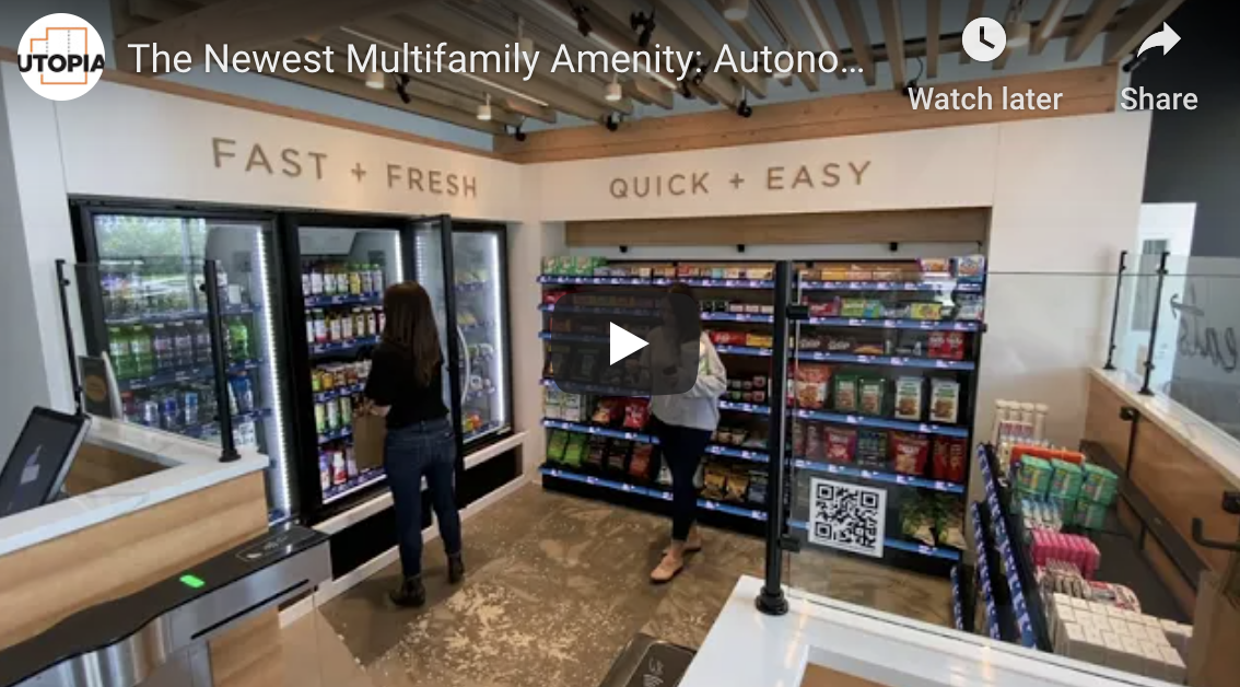 the newest multifamily amenity autonomous convenience store